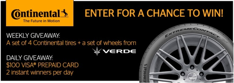 Continental Tire Weekly Winter Giveaway