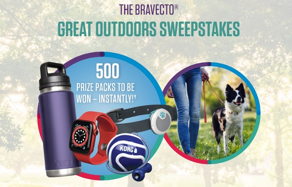 Bravecto Lets Play Great Outdoors Instant Win Sweepstakes