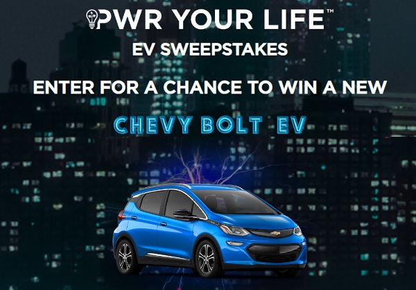 PWR Your Life EV Sweepstakes