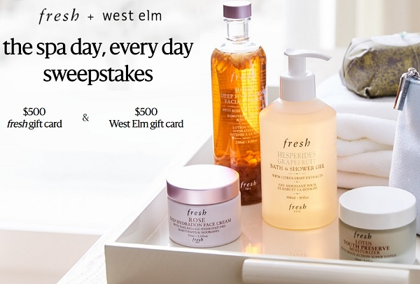 Westelm Spa Day Every day Sweepstakes