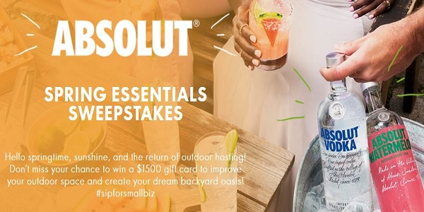 Absolut Backyard Makeover Sweepstakes