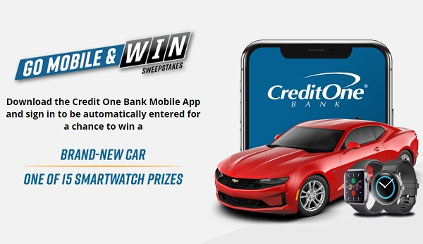 Credit One Bank Update Your Info & Upgrade Your Phone Sweepstakes