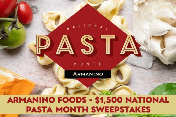 Armanino Foods National Pasta Month Sweepstakes